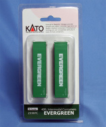 Kato N Scale 40' Container Two Pack EVERGREEN