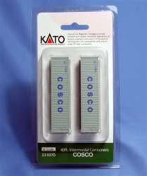Kato N 23507D 40ft Container Two Pack - COSCO