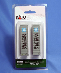Kato N 23507E 40ft Container Two Pack - MAERSK
