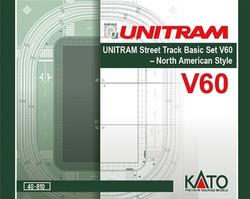 Kato N 40810 V60 UNITRAM Street Track Basic Set V60, North American Style