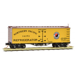 Micro Trains Line 058 00 390 36' Wood Sheathed Ice Reefer w/ Truss Rods Northern Pacific NP #14173