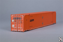 SCALETRAINS.COM OperatorSeries  HO CIMC 5' Corrugated Dry Container 3-Pack Schneider/Orange #'s138243 138310 138736