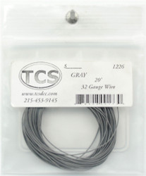 Train Control Systems  10' of 30 Gauge Wire, Gray