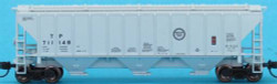 Trainworx Inc Pullman-Standard PS2-CD 4427 High-Side Covered Hopper, Missouri Pacific T&P #1 (gray, Buzz Saw Logo)