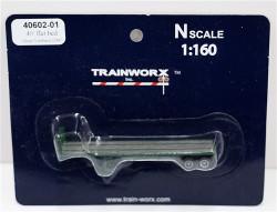 Trainworx N, 40602-03, 40' Flatbed Trailer, Great Northern GN#395