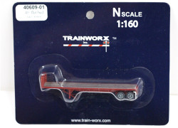 Trainworx N, 40609-01, 40' Flatbed Trailer, Louisville and Nashville L&N#309690
