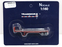 Trainworx N, 40609-03, 40' Flatbed Trailer, Louisville and Nashville L&N#309987