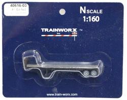 Trainworx N, 40616-03, 40' Flatbed Trailer, Soo Line SOO#300845