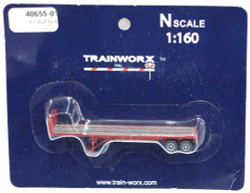 Trainworx N, 40655-01, 40' Flatbed Trailer,  Seaboard Coast Line SCL#1