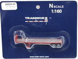 Trainworx N, 40655-02, 40' Flatbed Trailer,  Seaboard Coast Line SCL#2