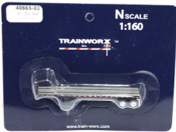 Trainworx N, 40655-03, 40' Flatbed Trailer,  Seaboard Coast Line SCL#3