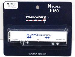 Trainworx N, 45382-03,  53'  Reefer Trailer,  Alliance Shippers #553896