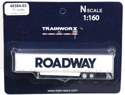 Trainworx N, 45384-03, 53' Trailer w/skirting,  Roadway #559409