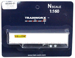 Trainworx N, 45385-01, 53' Trailer,  Yellow #530002