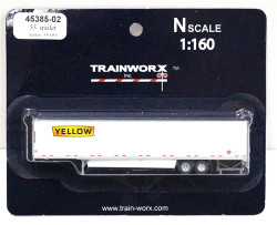 Trainworx N, 45385-02, 53' Trailer w/skirting,  Yellow #530085