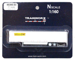 Trainworx N, 45385-03, 53' Trailer w/skirting, Yellow #530138