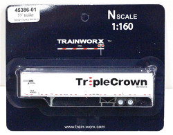 Trainworx N, 45386-01, 53' Trailer, Triple Crown #400000