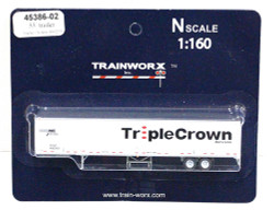 Trainworx N, 45386-02, 53' Trailer, Triple Crown #400293