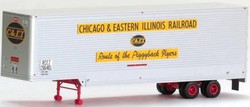 Trainworx HO 80303-03, 40' Drop Frame Trailer, Chicago & Eastern Illinois C&EI #206497