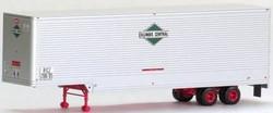 Trainworx HO 80306-06 40' Drop Frame Van Trailer, Illinois Central #208719