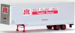 Trainworx HO 80343-01 40' Drop Frame Van Trailer, Rock Island RI #207275