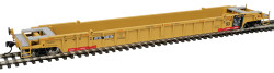 WalthersMainline 53' 3-Unit NSC Stand-Alone Well Car, RTR, TTX #620156 (yellow, black, red, Moving Forward Logo)