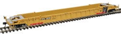 WalthersMainline 53' 3-Unit NSC Stand-Alone Well Car, RTR, TTX #620150 (yellow, black, red, Moving Forward Logo)