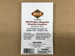 Walthers Proto MAX Magnetic Knuckle Couplers -- Standard Type 4 Pair