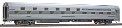 Walthers HO Scale RTR Budd 24-8  Slumbercoach, Chicago, Burlington & Quincy (Plated Metal Finish)