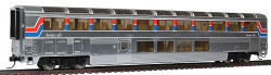 Walthers RTR Revised Streamlined Superliner(R) l Lounge w/Plated Finish, Amtrak(R) Phase ll