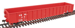 Walthers Gold Line HO Scale Ready to Run 53' Thrall 14 Post Gondola, Green Bay & Western GBW #35