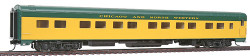 Walthers HO Scale RTR Pullman-Standard 85' 12 Double Bedroom Sleeper Passenger Car, Chicago & North Western