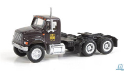 Walthers SceneMaster 949-11184 International 4900 Dual-Axle Semi Tractor Only - Assembled -- United Parcel Service UPS (Bow Tie Shield Logo; brown, yellow)