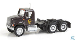 Walthers SceneMaster 949-11185 International 4900 Dual-Axle Semi Tractor Only - Assembled -- United Parcel Service UPS (Modern Shield Logo; brown, yellow)