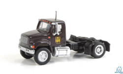 Walthers SceneMaster 949-11192 International 4900 Single-Axle Semi Tractor Only - Assembled -- United Parcel Service UPS (Bow Tie Shield Logo; brown, yellow)