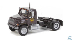 Walthers SceneMaster 949-11193 International 4900 Single-Axle Semi Tractor Only - Assembled -- United Parcel Service UPS (Modern Shield Logo; brown, yellow)