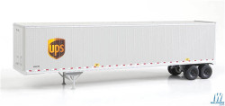 Walthers Scene Master WAL9492256 HO Scale Ready to Run 48' Stoughton Trailer 2-Pack - Assembled United Parcel Service (Modern Shield Logo, gray, brown, yellow)