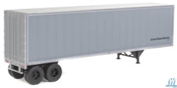 Walthers Scene Master HO Scale 949-2509 40' Trailmobile Trailer 2-Pack - Assembled -- United Parcel Service UPS (gray)