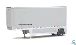 Walthers Scene Master WAL9492550 HO Scale Ready to Run 26' Drop-Floor Trailer 2-Pack Assembled United Parcel Service (gray)