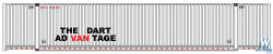Walthers Scene Master WAL9498529 HO Scale 53' Singamas Corrugated-Side Container - Assembled -- Dart (white, black, red)