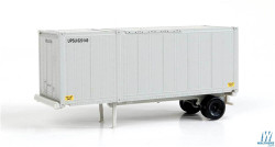 Walthers Scene Master WAL9498600 HO Scale 28' Container with Chassis 2-Pack Assembled United Parcel Service UPSZ (gray)