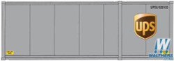 Walthers Scene Master WAL9498601 HO Scale 28' Container with Chassis 2-Pack Assembled United Parcel Service (Modern Shield Logo; gray, brown, yellow)