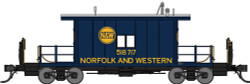 Bluford Shops HO BLU33091 Steel Transfer Caboose w/Long Roof, Norfolk & Western #518730 (Pevler Blue)