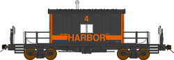 Bluford Shops HO Scale BLU34020 Ready to Run Steel Transfer Caboose-Long Roof,Indiana Harbor Belt #4 (1983 Scheme, black, orange)