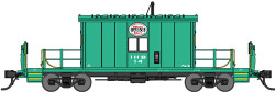 Bluford Shops HO Steel Transfer Caboose w/Short Roof, Indiana Harbor Belt #14 Jade Green, Logo Above Window)
