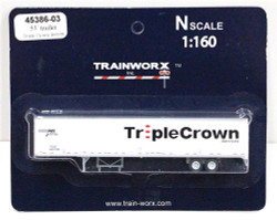 Trainworx N, 45386-03, 53' Trailer, Triple Crown #460198