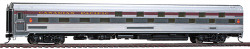 Walthers HO Scale RTR 85' Budd Slumbercoach 24-8 Sleeper, Canadian Pacific (Plated Metal Finish, maroon Letterboard, Beaver Logo)