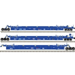 Atlas HO Master 20004608 Thrall Triple 53' Articulated Well Car BNSF SFLC #9015