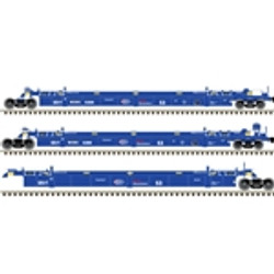 Atlas HO Master 20004611 Thrall Triple 53' Articulated Well Car Providence and Worcester WRWK #5593