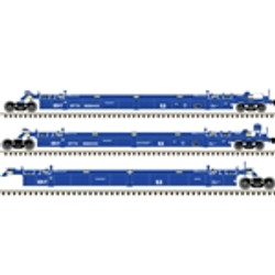 Atlas HO Master 20004612 Thrall Triple 53' Articulated Well Car TTX Ex BRAN - DTTX #888443